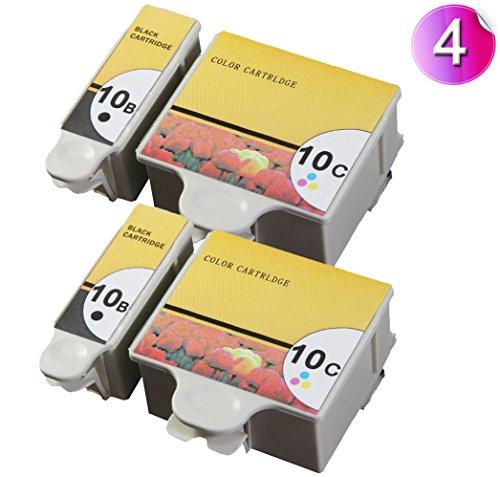 AA+inks Kompatible patrone als Ersatz für Kodak 10 Farbe 10 Schwarz für Easyshare 5300 5500 ESP 3 5 7 9 3250 5250 7250 6150 10b 10c Tintenpatronen 4PK
