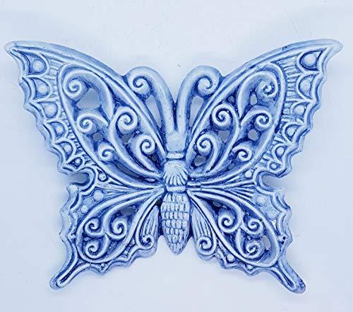 Farfalla ceramica decorata a mano le ceramiche del castello nina palomba made in italy dimensioni 13 x 15 centimetri