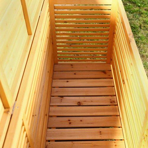 2in1 Holz Bank Auflagenbox Kissenbox Gartenbank Gartenmöbel Truhe Holztruhe - 3