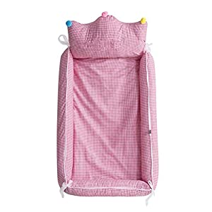 TINGYIN Baby Bassinet Baby Lounger - Breathable & Hypoallergenic Co-Sleeping Baby Bed,100% Cotton Portable Crib for Bedroom/Travel - A   2