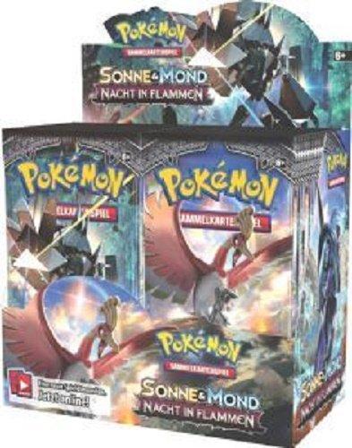 Pokemon - Sonne Mond 3 Nacht in Flammen Display (36 Booster), Deutsch