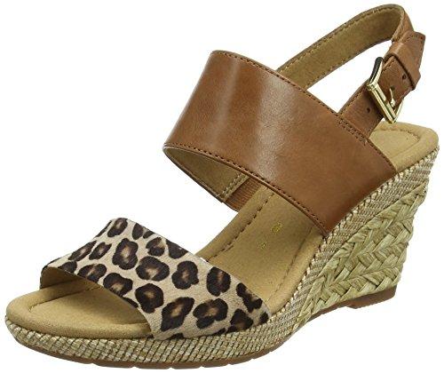 Gabor Shoes 42.825 Damen Offene Sandalen, Beige (55 natur/peanut(ba.st)), 39 EU (6 UK) EU (Schuhe 55 Open Damen Toe)