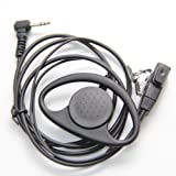 Kit Earloop Auricular Con Micrófono PTT Para 1 PIN Motorola Walkie Talkie TLKR T6 T7 T8 y Cobra MT200 MT600 MT800 MT975