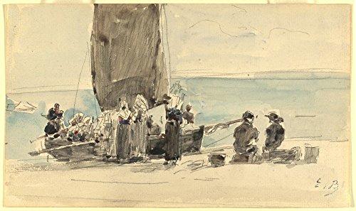 Das Museum Outlet-Laden der Boote, 1875-Poster Print Online kaufen (101,6x 127cm)