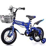 Great St. DGF Bicyclettes pour Enfants 2-12 Ans Bébé Enfants Vélo Hommes et Femmes Amortisseur Bébé Voiture ( Color : Blue, Size : 12 Pouces )