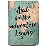 #3: Qrioh Passport Holder Wallet for Men/Women - Adventure Begins