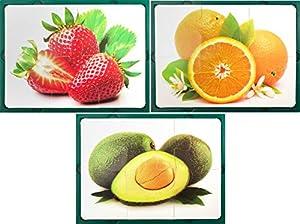 Learn and Play Aprende y Juega 27,5 x 19 cm Puzzle Suave de la Fruta (Conjunto de Piezas 3/6)