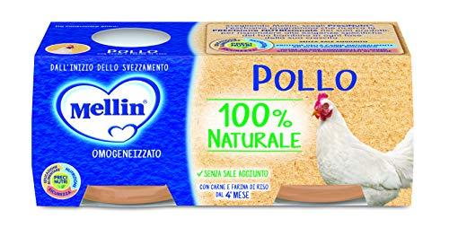 Mellin Omogeneizzato di Pollo 100% Naturale 24 Vasetti da 80 gr