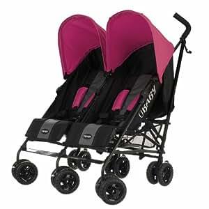 Obaby Apollo Black & Grey Twin Stroller (Pink)