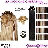 Socap - Extensions brillantes en cheveux véritables traités à la kératine 50/55cm
