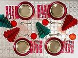 [Pack ahorro] Kit de vajilla desechable elegante con decoración de mesa para...