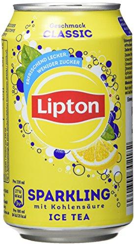 Lipton Ice Tea Sparkling Classic, 24er Pack, EINWEG (24 x 330 ml) (Eis-pakete)