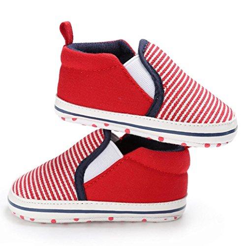 Igemy 1 Paar Nettes Baby Kleinkind Comfort Loafers Soft Anti-Rutsch Schuhe Rot