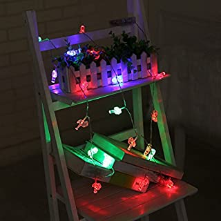 ALCYONEUS Flamingos Fairy String Light Akku betrieben Xmas Festival Hochzeit Dekor 10 LED (Multicolor)
