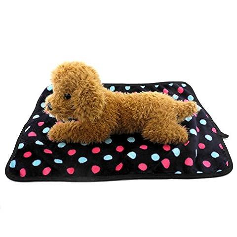 Smalllee _ Lucky _ Ranger Cat Pet Couverture pour chien à pois en polaire chaud pour petit chiot d'hiver