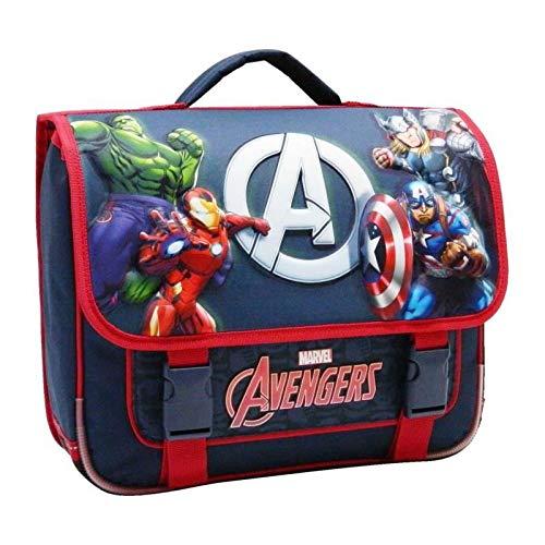 Bagtrotter AVNI10WEB Cartable Scolaire Avengers Bleu Marine 38 x 14 x 33 cm
