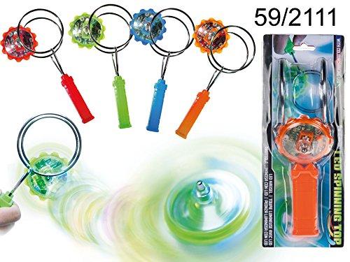 Magnet Kreisel mit farbwechselnder LED 21cm inklusive Batterien 4-farbig sortier