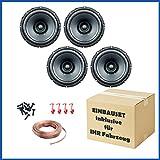 PG Audio 2 Paar Evo I 16.2, 16 cm Dual Cone Lautsprecher für Mehrere Fahrzeugmodelle