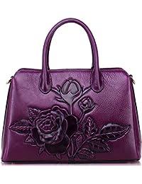 Aphison Genuine Leather handbags for women Designer, Ladies Vintage Classic Cowhide Leather Tote Satchel Crossbody Shoulder Bags Messenger bag Female Bag