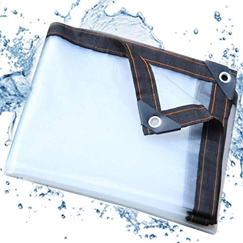 YYRZ Plane Wasserdicht Schwerlast Transparent Pflanze Staubdicht Carport PVC Kunststoff Außenzeltplane, Dicke: 5Mil, 120G/M², 24 Größen,1mX1m/3.3x3.3ft