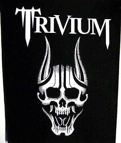 Trivium Screaming Skull Back patch/toppa, nero, taglia unica