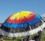Maffei Art 7Target, Sonnenschirm rund Durchmesser cm 200, Besteck mit Bast 5Farben, Made in Italy. Farbe der Wappen der Zielscheibe der Arc