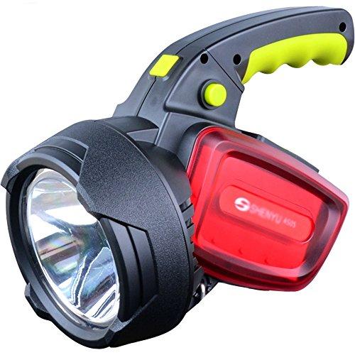 Flashlighx Super Lumineux En Plein Air de Poche Portable USB Rechargeable Lampe de Poche Torche Multifonctionnel LED Projecteur Lampe Camping Randonnée Chasse Étanche Spotlight