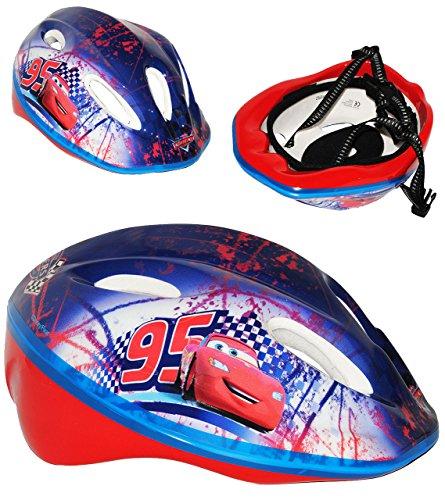 Kinderhelm Cars Größen verstellbar - Helm für Kinder Junge Car Lightning Mc Queen z.B. als Fahrradhelm Größe Jungen