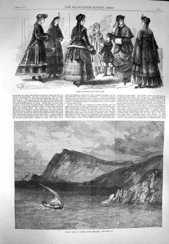 1869 Ansicht-NordKüsten-Kreta-Boots-Paris-Mode-Frauen