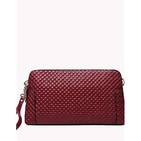 Da Wu Jia Ladies borsetta di alta qualità di lusso cuoio donne Shell Borsa a tracolla / Frizione - blu / rosso / nero / rosso borgogna ,