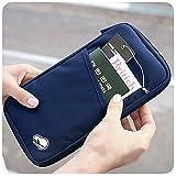 Xiaokesong® Reisepasshülle Reisepassschutz / Schutzhülle / Etui Wasserdichte Nylon Reisedokumententasche mit Handschlaufe Pass-Gutschrift Identifikation-Karten-Beutel (Dunkelblau)