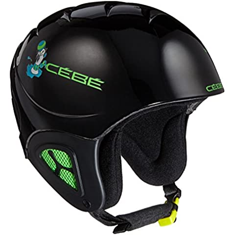 Cébé Pluma Junior Basics Casco da Sci, Black Seal, 49-53 cm - Sci Caschi