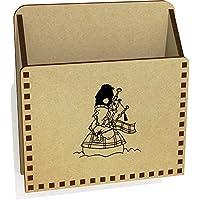 Azeeda 'Bagpipe Snowman' Wooden Letter Holder/Box (LH00033840)