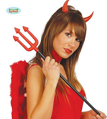 Forcone tridente da diavolo in plastica 60 cm
