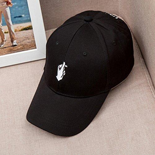 WINOMO Berretto da Baseball Snapback Cappello Cap Amore Dito Design Regolabile (Nero)