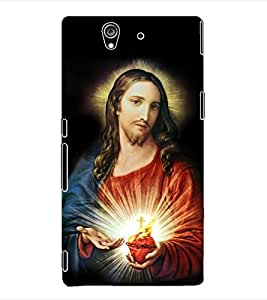 ColourCraft Lord Jesus Back Case Cover for SONY XPERIA Z - C6603 / C6602