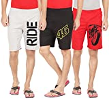 #9: Hotfits Men's Multicolour Combo Graphic Shorts