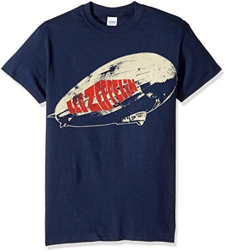 Rockabilia - Camiseta - Hombre de color Azul de talla Small - (Camiseta) - Led Zeppelin - Legend