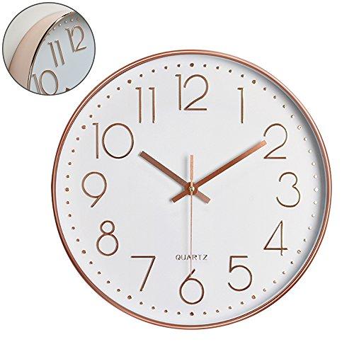 Orologio da parete orologio a muro orologio da parete per interni orologio da cucina orologio del soggiorno quarzo silenzioso orologio digitale da muro moderno decorazione a muro 12