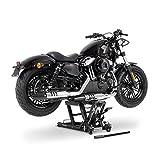 Caballete Elevador Tijera Moto para Harley Davidson Sportster 1200 T Superlow (XL1200T) Hidraulico ConStands Mid-Lift L negro