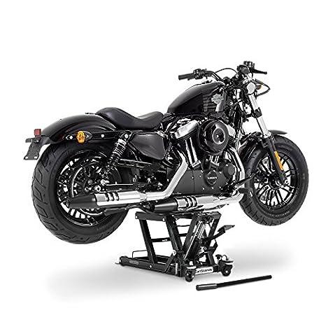 Cric moto ConStands Mid-Lift L noir pour Harley Davidson Cross Bones (FLSTSB), CVO Electra Glide Ultra Classic