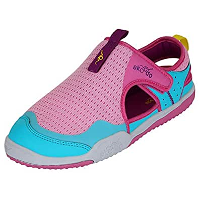 skoodo Kids Casual Sports Shoes (Boys and Girls 6-14 Years) - Winger Glide - Candy Pink | Teal - 1.5 UK