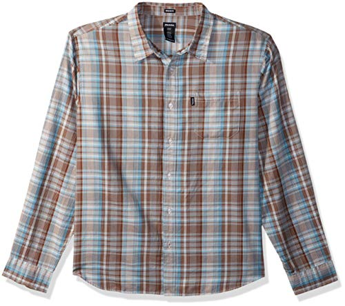Dickies Men's Long Sleeve Regular Fit Yarn Dye Plaid Shirt, - Dye Plaid Shirt