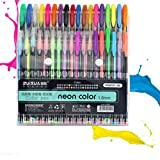 healifty Farben Gel Stifte Set 48Farben Glitzer-Gel Stifte Craft Zeichnen Malen Färben Stifte