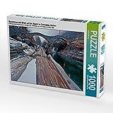 Bootshaus mit Blick auf die Alpen in Cannobio, Italien 1000 Teile Puzzle quer (CALVENDO Orte)