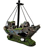 Yakamoz Résiné Pirate Bateau Pour Aquarium Simulation Pêche Corsaire Pour Décoration Paysage de Fish Tank