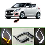 #5: Auto Pearl - Premium Quality Car Fog Lamp LED Reflector Day time Running Light For - Maruti Suzuki New Swift