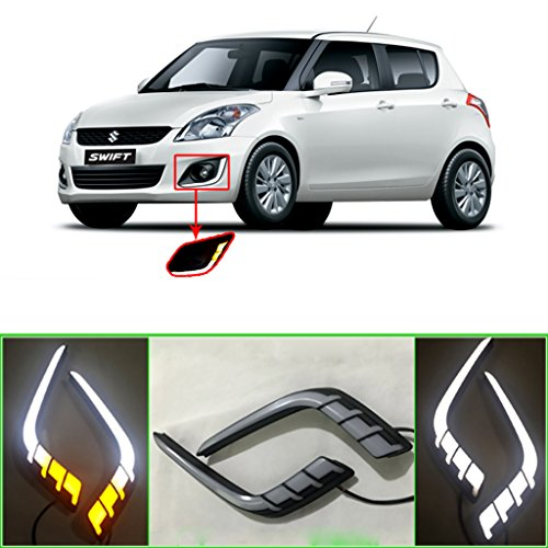 auto pearl - premium quality car fog lamp led reflector day time running light for - maruti suzuki new swift Auto Pearl – Premium Quality Car Fog Lamp LED Reflector Day time Running Light For – Maruti Suzuki New Swift 51E 2B2zuvewL