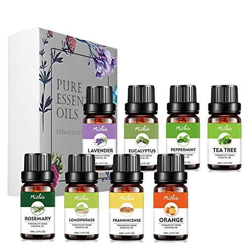 Körper-Öl Essentials Kit (Beito 1284/5000 1 Satz Reine Pflanzenöl Set Premium Aromatherapie Ätherische Öle Aromatherapieöl Kit Für Diffusor Luftbefeuchter, Massagearomatherapie, Haut Haarpflege (10 ml * 8))