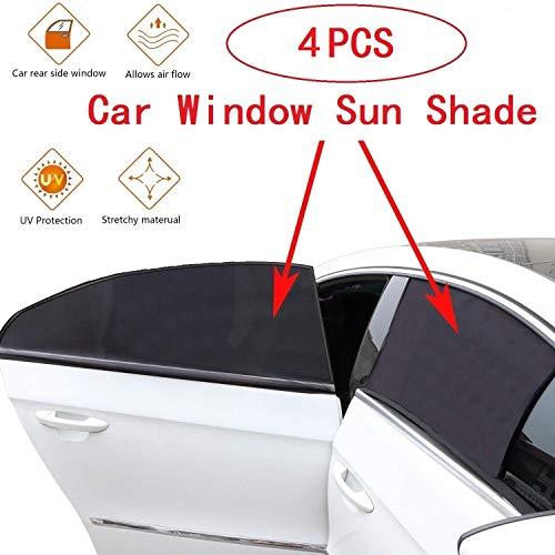 FindX 4 Unidades parasoles ventanilla Trasera Coche